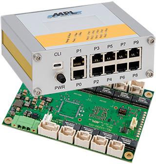 瑞士MPL可管理型μMAGBES10-28端口千兆交换机